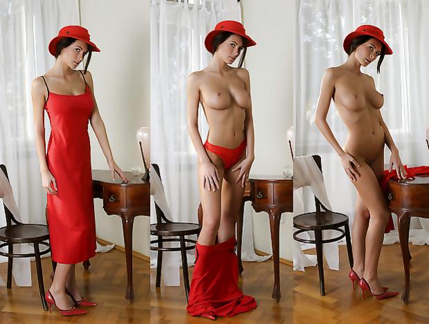 Красном платье в видеопорно